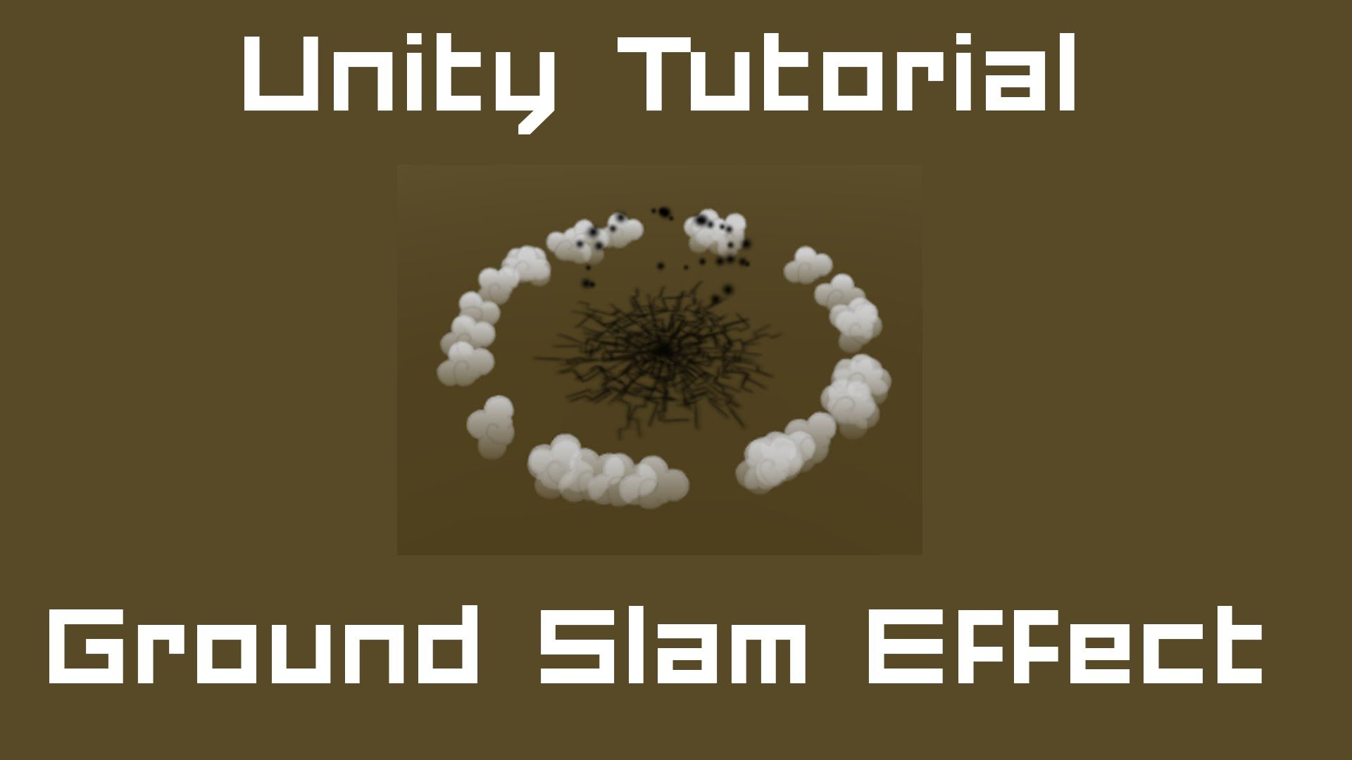 In this tutorial i show you how to create a ground slam effect  So