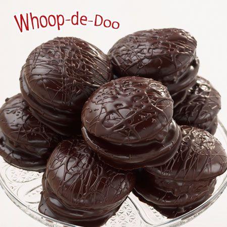 Yummie Whoopie Pies dipped in chocolate!