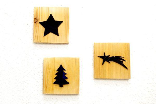 mini weihnachts wandbilder deko aus schallplatten von. Black Bedroom Furniture Sets. Home Design Ideas