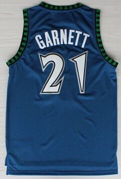 35918d6a2 High Quality Stitched  21 Kevin Garnett Jerseys Black Blue White Basketball  Jerseys Embroidery Logos Throwback