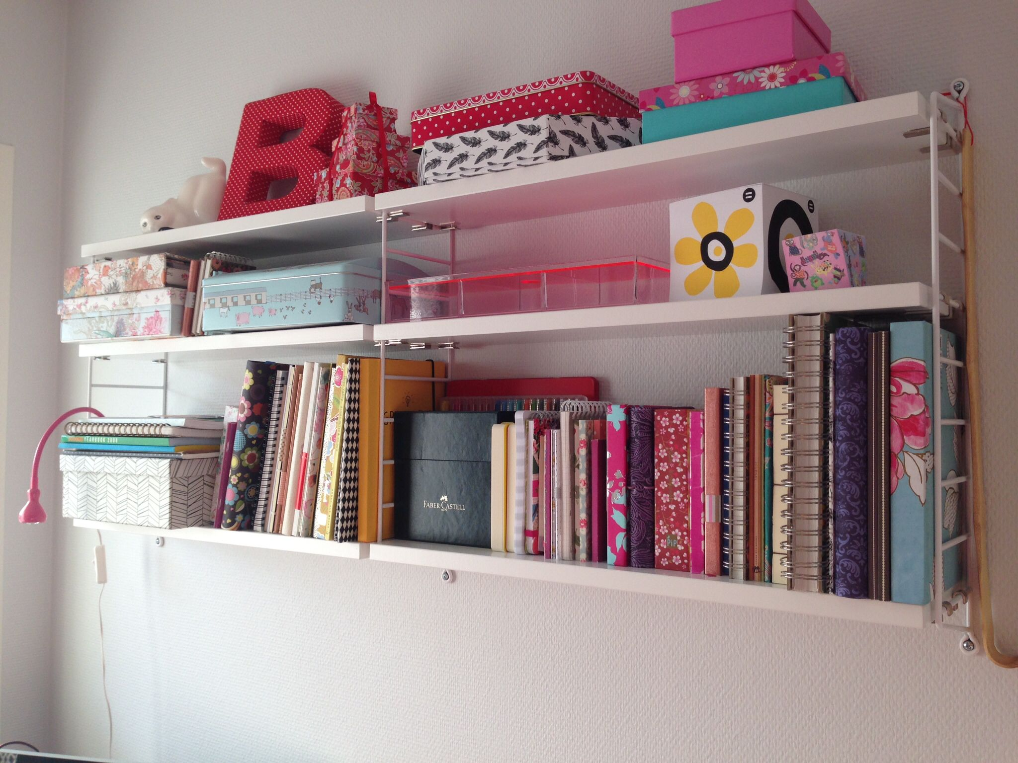 Love my string pocket shelf