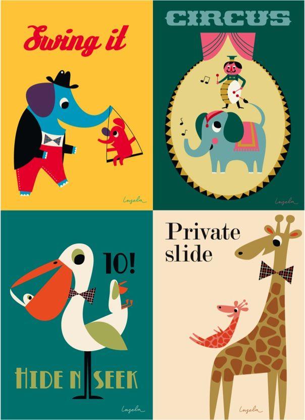 Vintage style kids posters by Ms Arrenhuis   Living   Pinterest ...