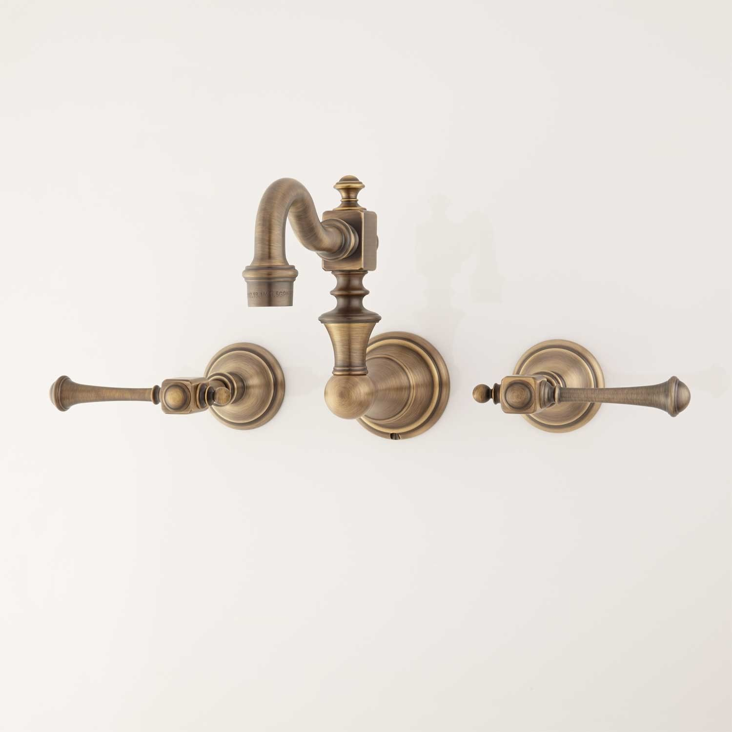 Vintage Wall-Mount Kitchen Faucet - Lever Handles | Wall mount ...