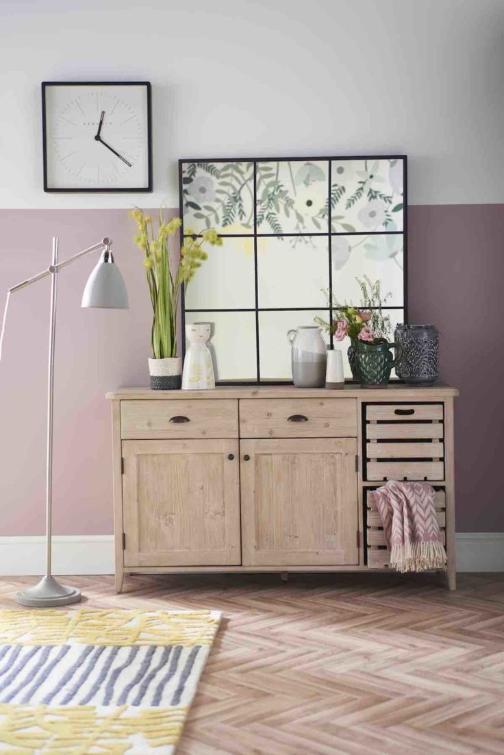 Embrace biggest spring summer interior trend for botanical prints mixed together rustic woods lavender and green tones as seen in good homes also styling with magazine pretty things rh pinterest