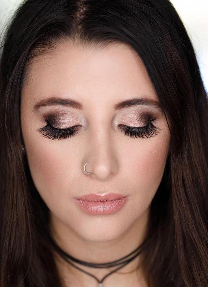 Shimmery Smokey Eye And Full Lush Lashes Wedding Makeup Bridal