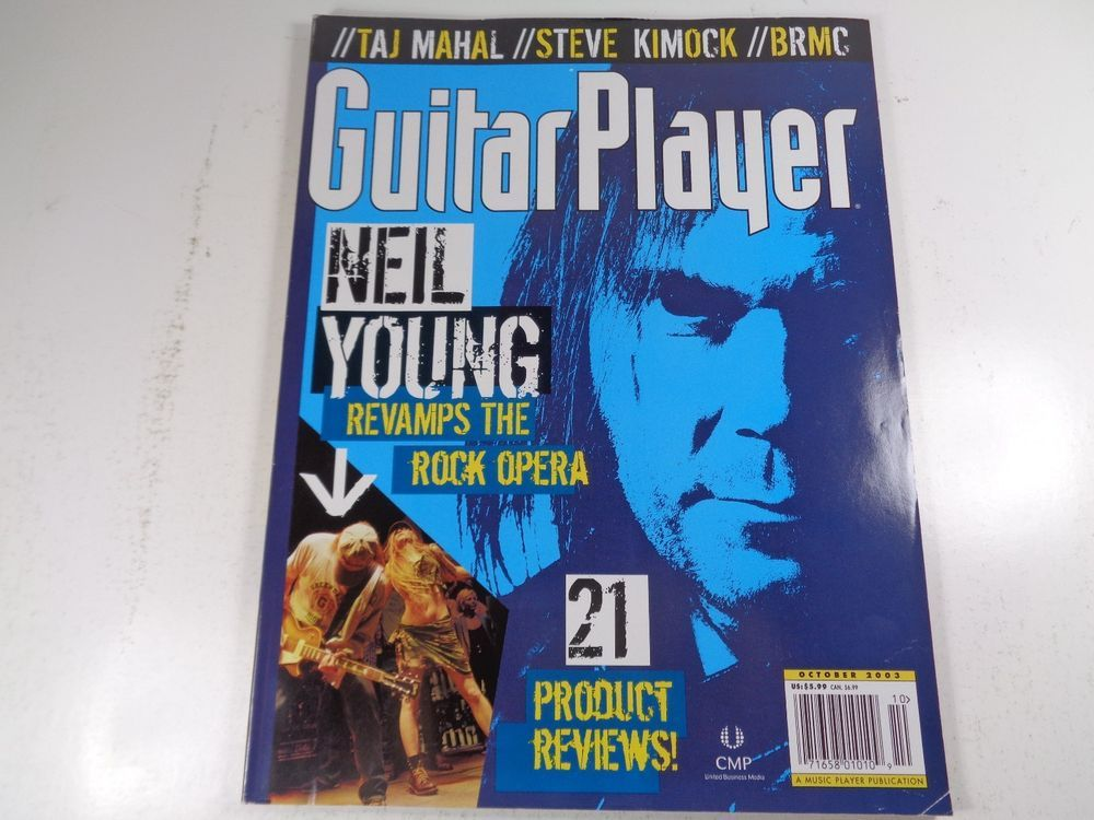 Guitar Player Magazine Neil Young October 2003