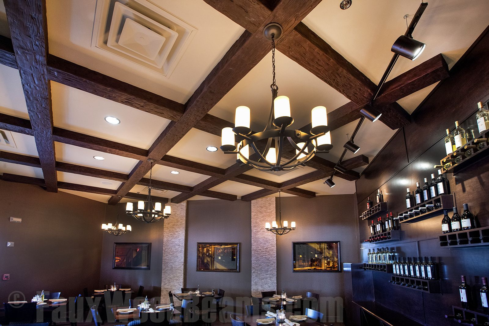 Diy hanging lights how to install on faux beams vaulted ceiling
