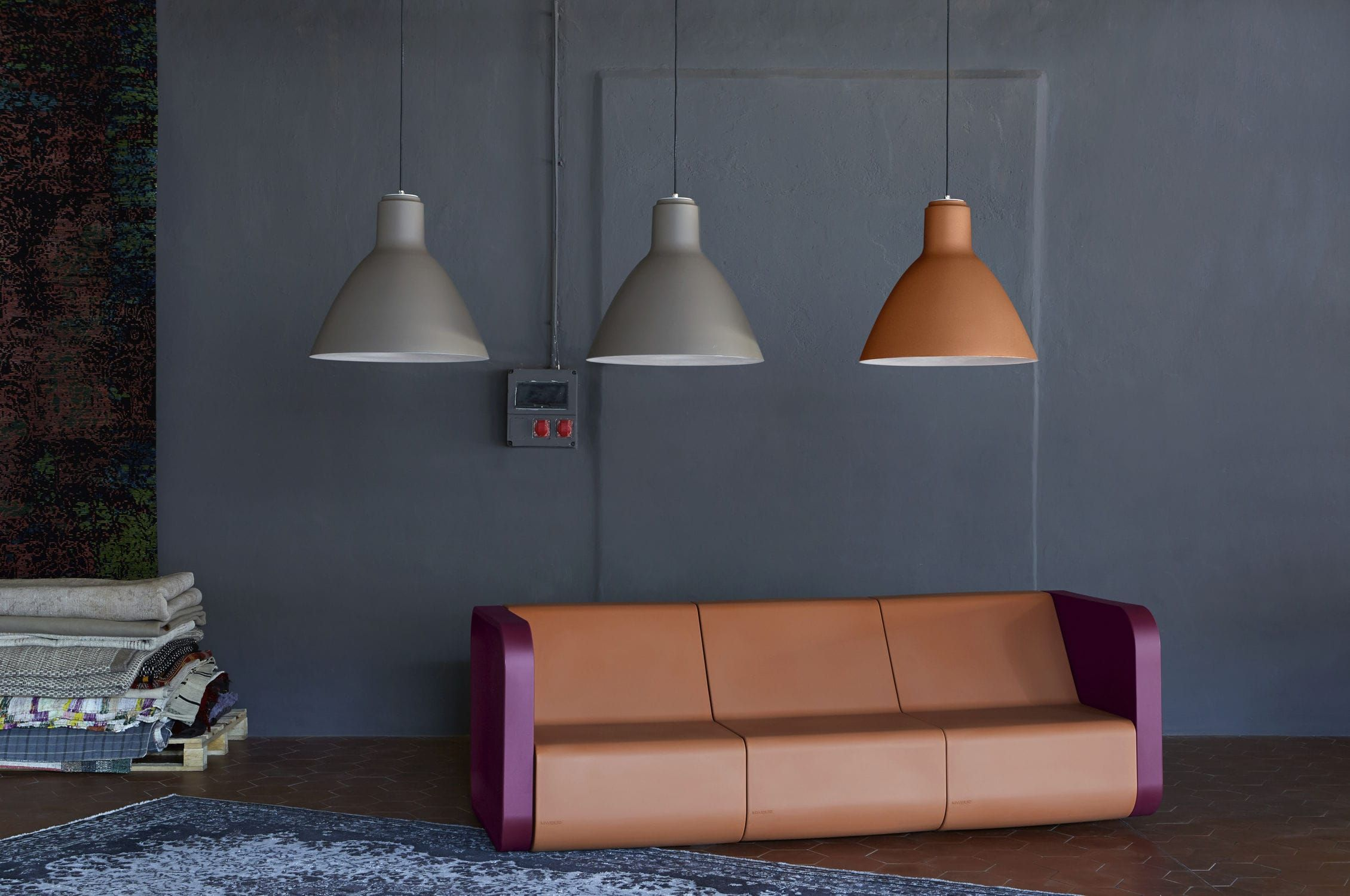 Lampe suspension / design industriel / de jardin / en plastique - BELL - Myyour