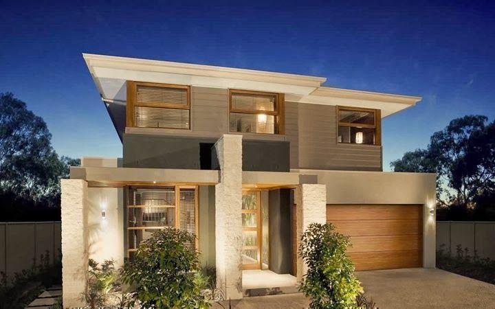 Fachadas de casas bonitas de diferentes tipos y tendencias un y dos