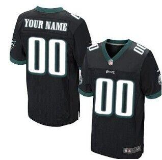 Nike Philadelphia Eagles Customized Black Elite Jersey Eagles Jersey 359702608