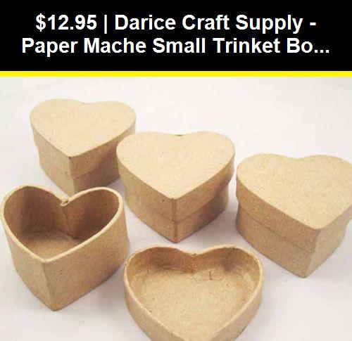 Heart Darice Paper Mache Miniature Small Decoupage Box Set 2pks//12pc.