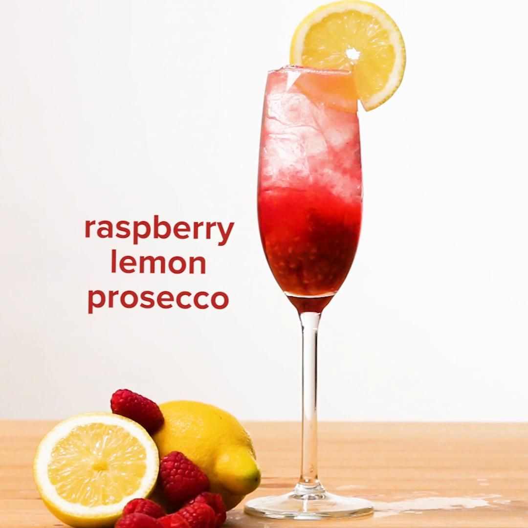 Raspberry And Lemon Prosecco Recipe By Tasty Recipe Spritzer Recipes Prosecco Cocktails Prosecco
