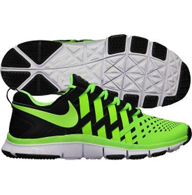 57a0849fc789 ♥Im in love♥ NIKE Free TRAINER 5.0 (NEON GREEN BLACK WHITE) FINGERTRAP  DESIGN MEN S 9.5 - NEW