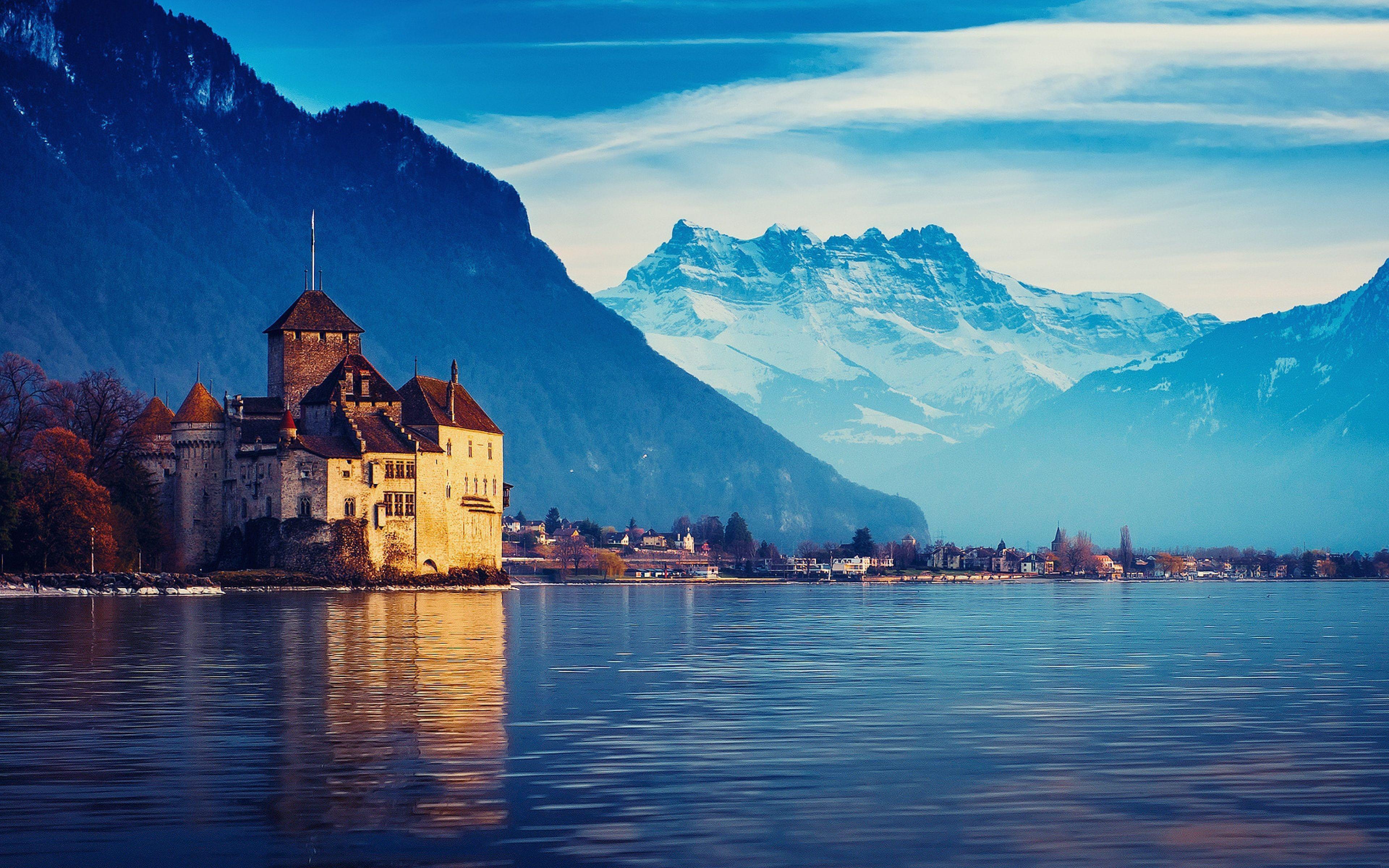 Geneva Lake Switzerland Wallpaper Hd Download Desktop