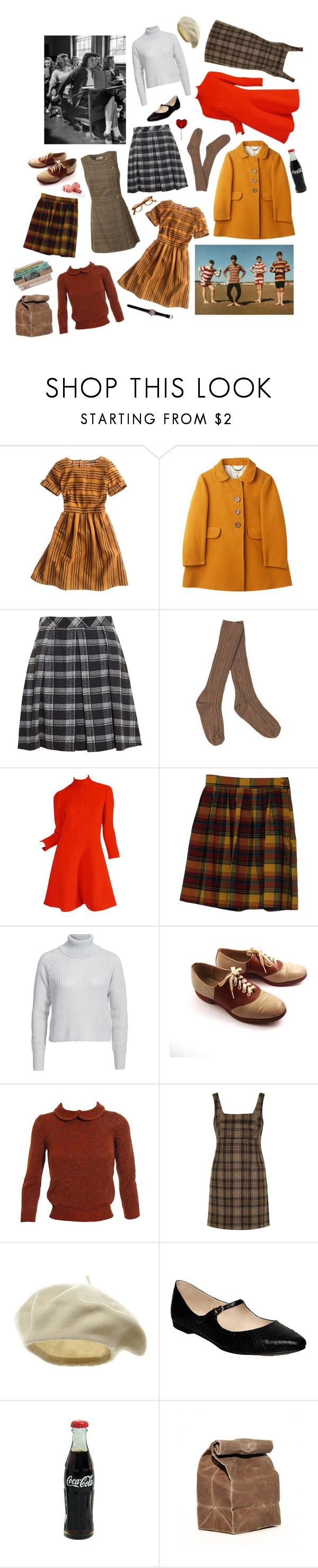 """Year 1965"" by dulceelena ❤ liked on Polyvore featuring Madewell, Proenza Schouler, Noisy May, Hannah Marshall, Jil Sander, Unique, Weston and Pied a Terre"