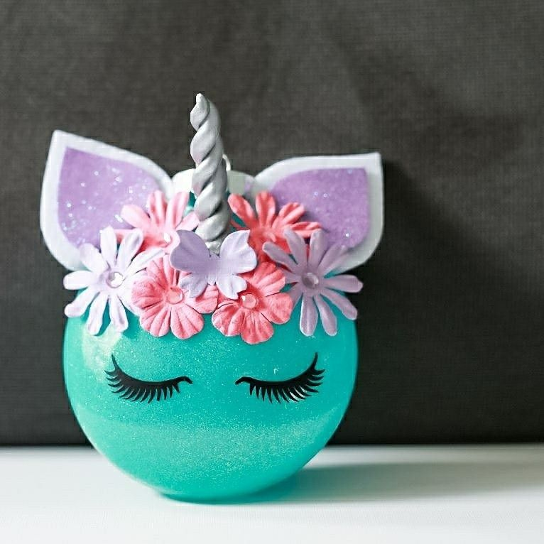 diy unicorn christmas ornament - Unicorn Christmas Decorations