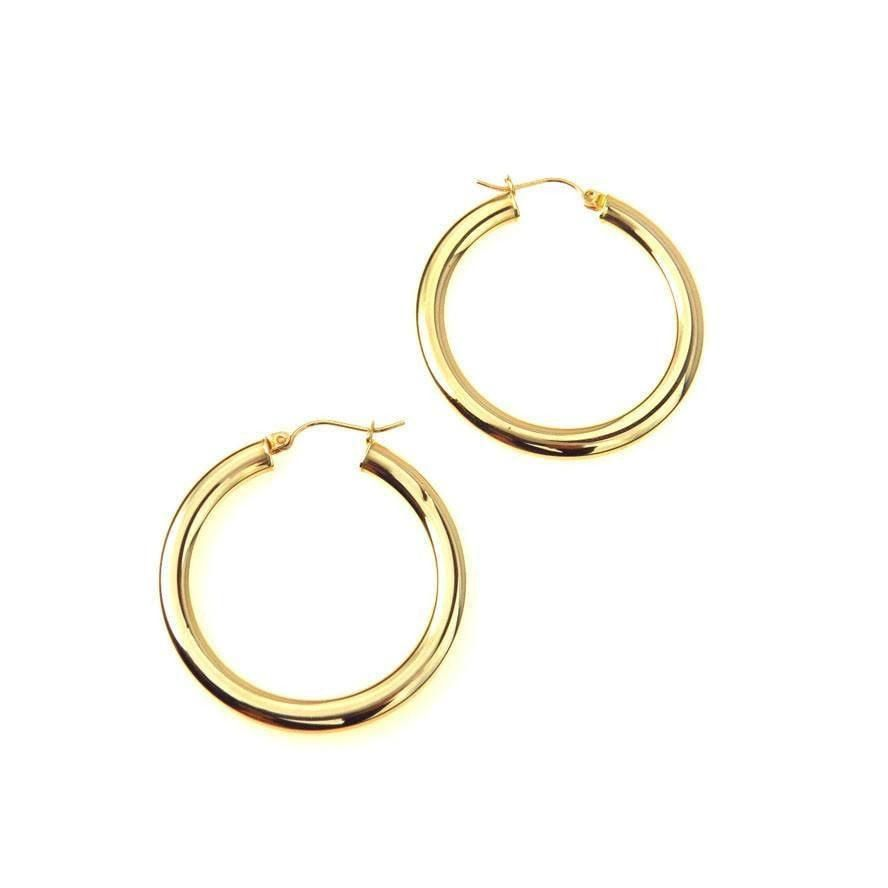 Large 10k Gold Hoop Earrings Estatejewelry