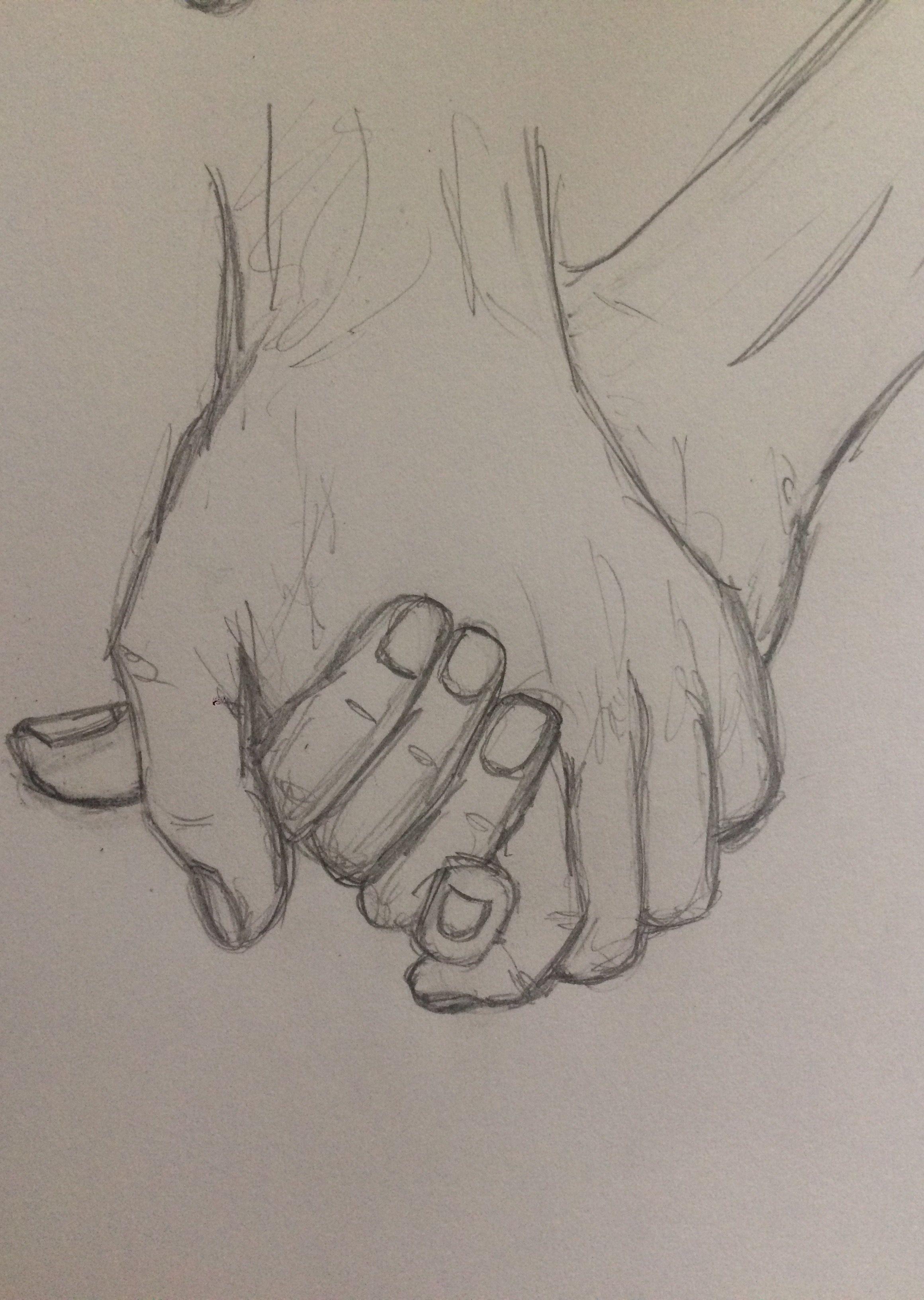 Practice sketch holding hands pinkishcoconut practice