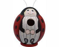 Bobbo Inc Birdhouse Gordo Ladybug Bobbo3880081 This Is An Amazon Associate S Pin Find Out More On Amazon Websit Wood Birdhouses Bird Houses Bird Houses Diy