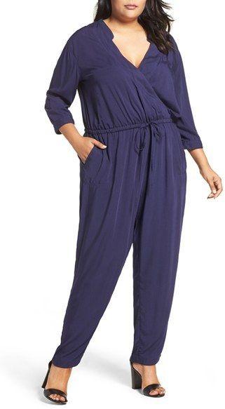 e4c8443186f8 Plus Size Women s Caslon Surplice Jumpsuit