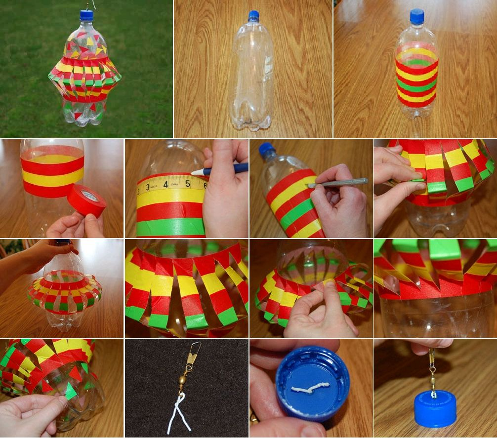 Diy plastic bottle wind spinner plastic bottle crafts for Water bottle recycling ideas