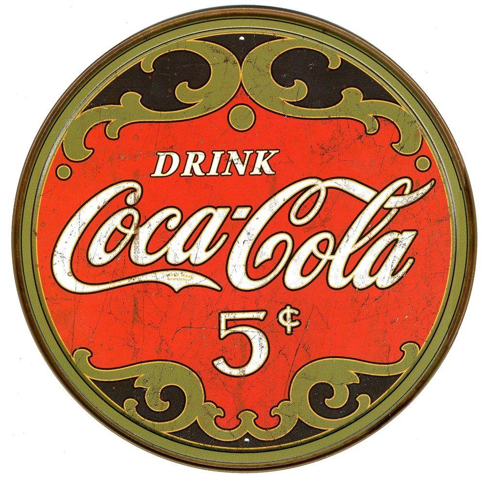 Resultado de imagen para coca cola vintage p ster - Chapa coca cola pared ...