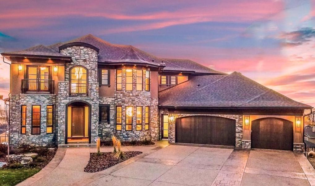 Stone & Stucco Luxury Home In Alberta, Canada   Stucco ...