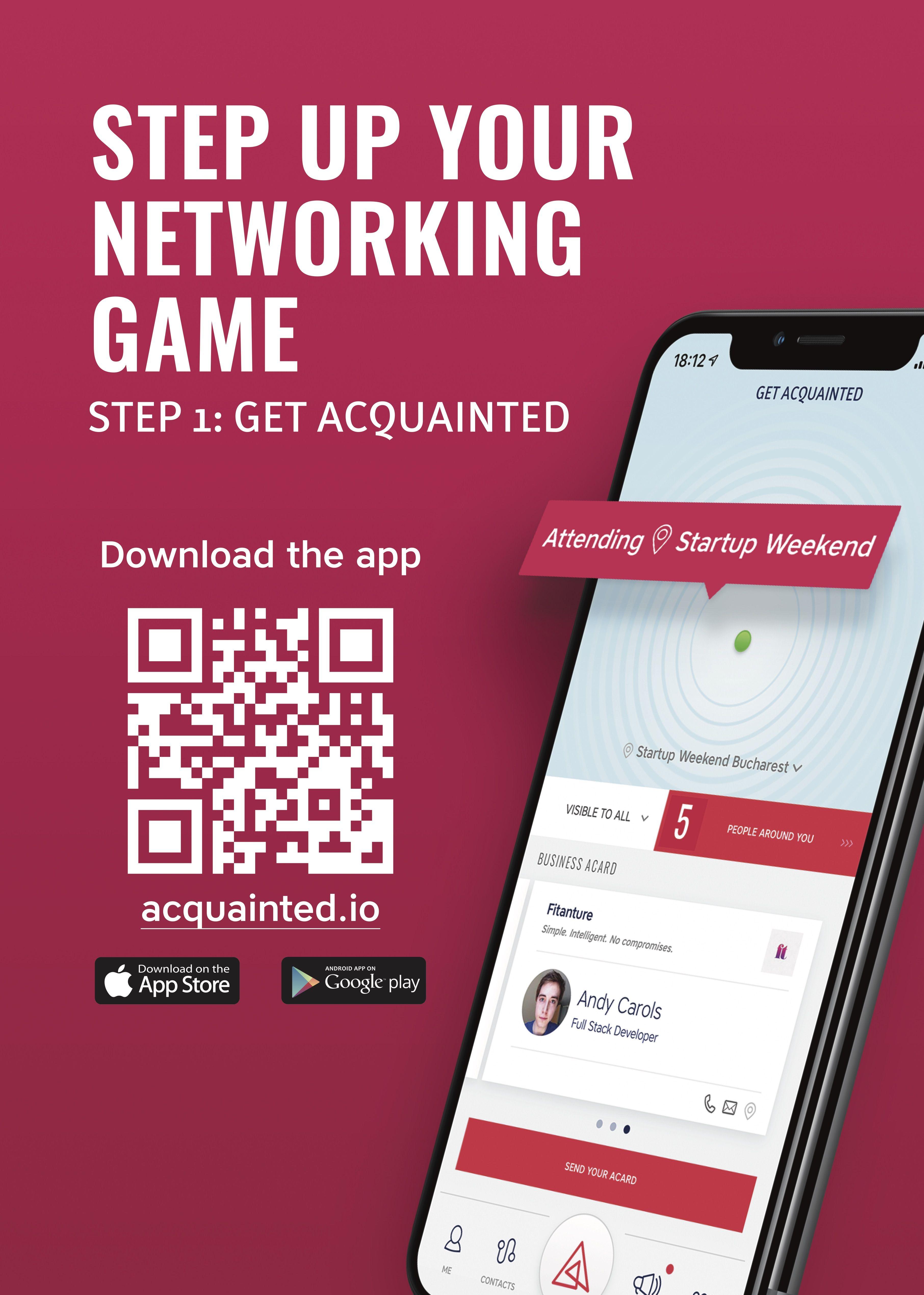 Poster Download App Digital Business Card App Technology App