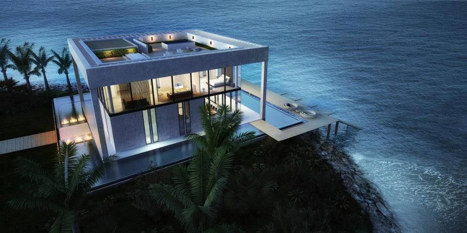 House on the ocean plenty of windows here to catch the view. #homeswithaview