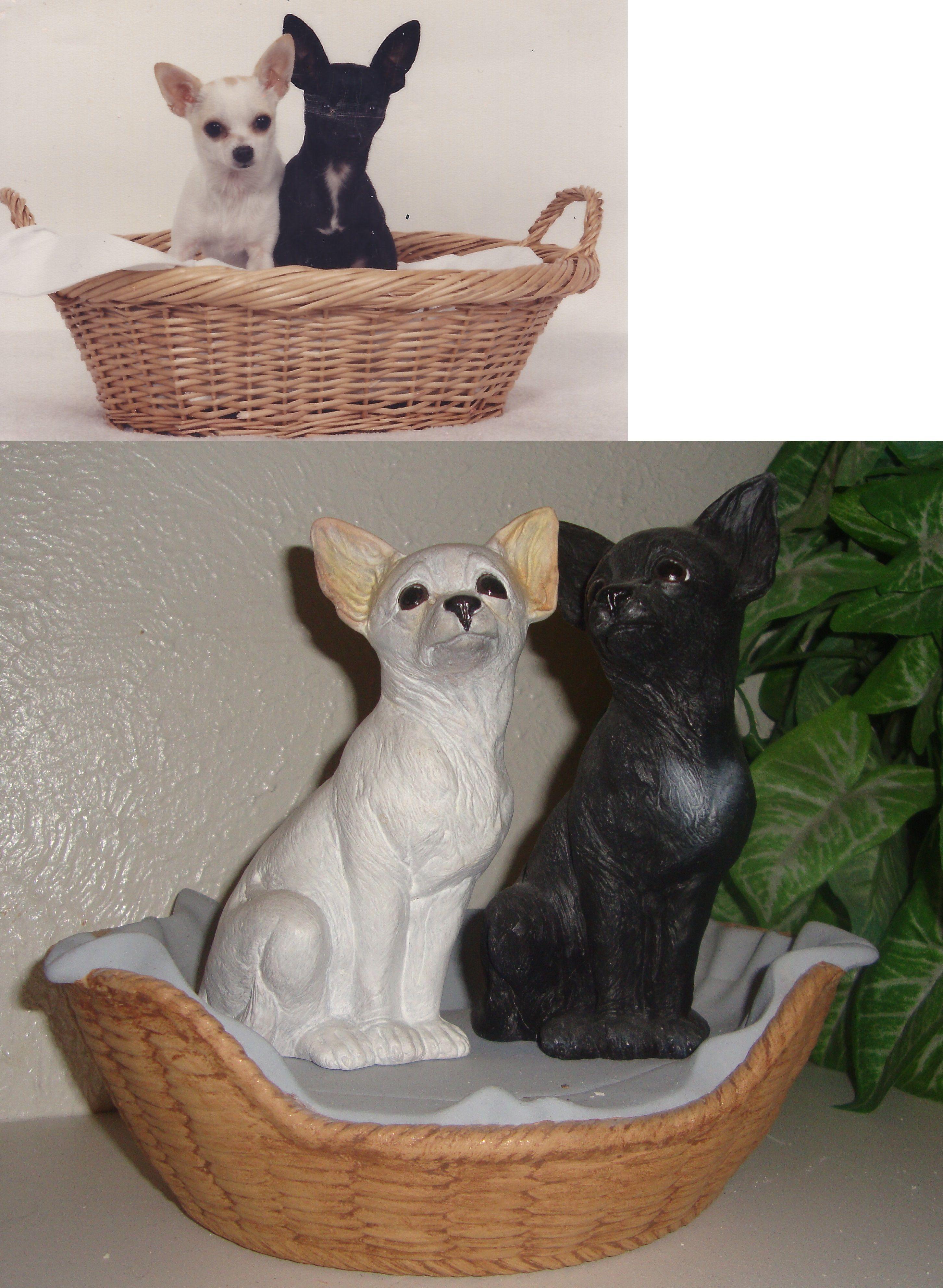 Chihuahua Pic to ceramics (taken) Wicker laundry basket