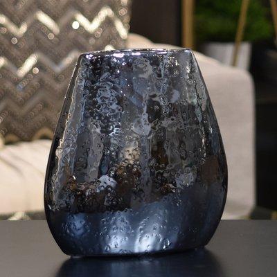 Orren Ellis Hong Stoneware Elliptical Bellied Table Vase