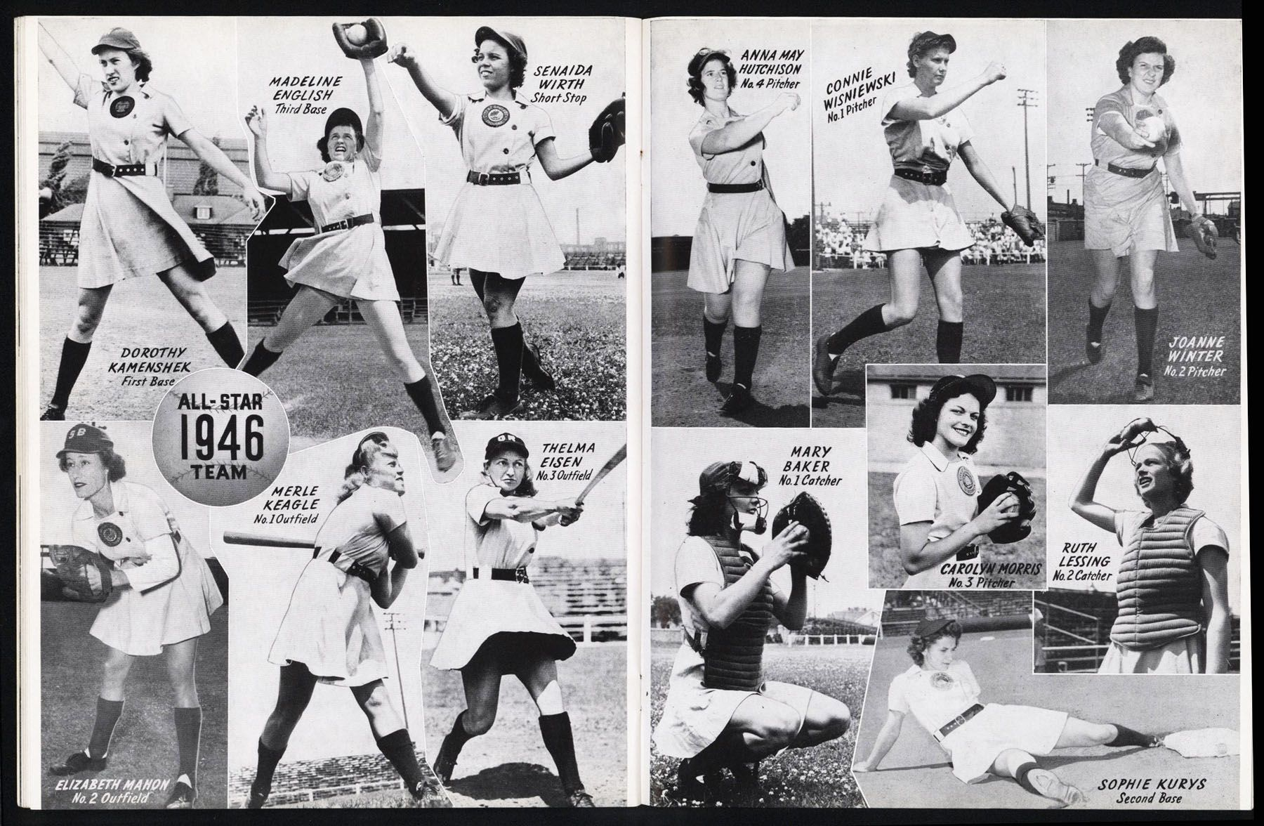 The Women Of The All American Girls Professional Baseball League They Were Able To Play Baseb American Baseball League National Baseball League Baseball Girls