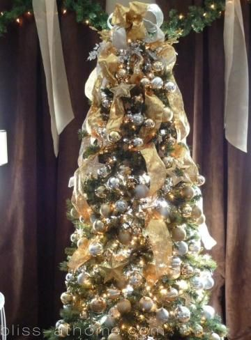 Gold, Silver  White Tree Holidays Pinterest Holidays