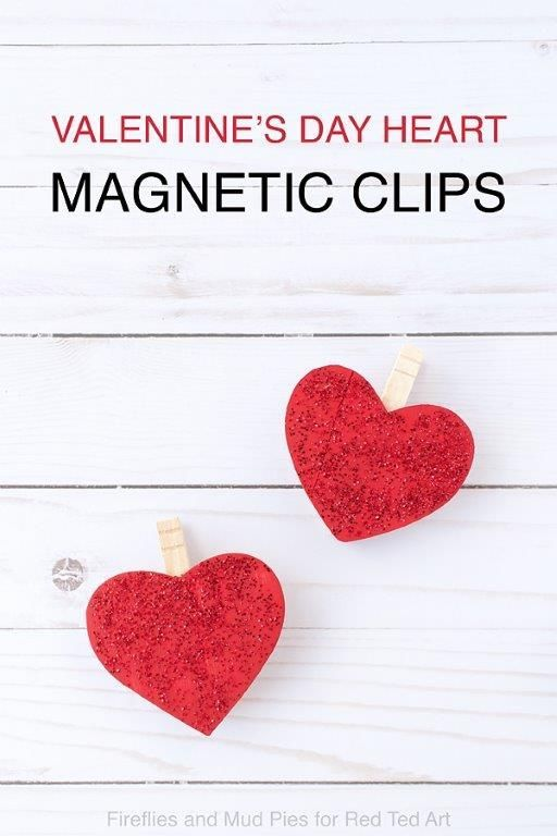 valentineu0027s day magnetic clips valentine heart magnets and hearts valentines