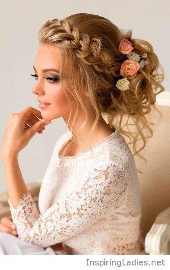 Wedding Hairstyle With Braids Inspiring Ladies Wedding Hairstyles For Long Hair Medium Hair Styles Vintage Wedding Hair