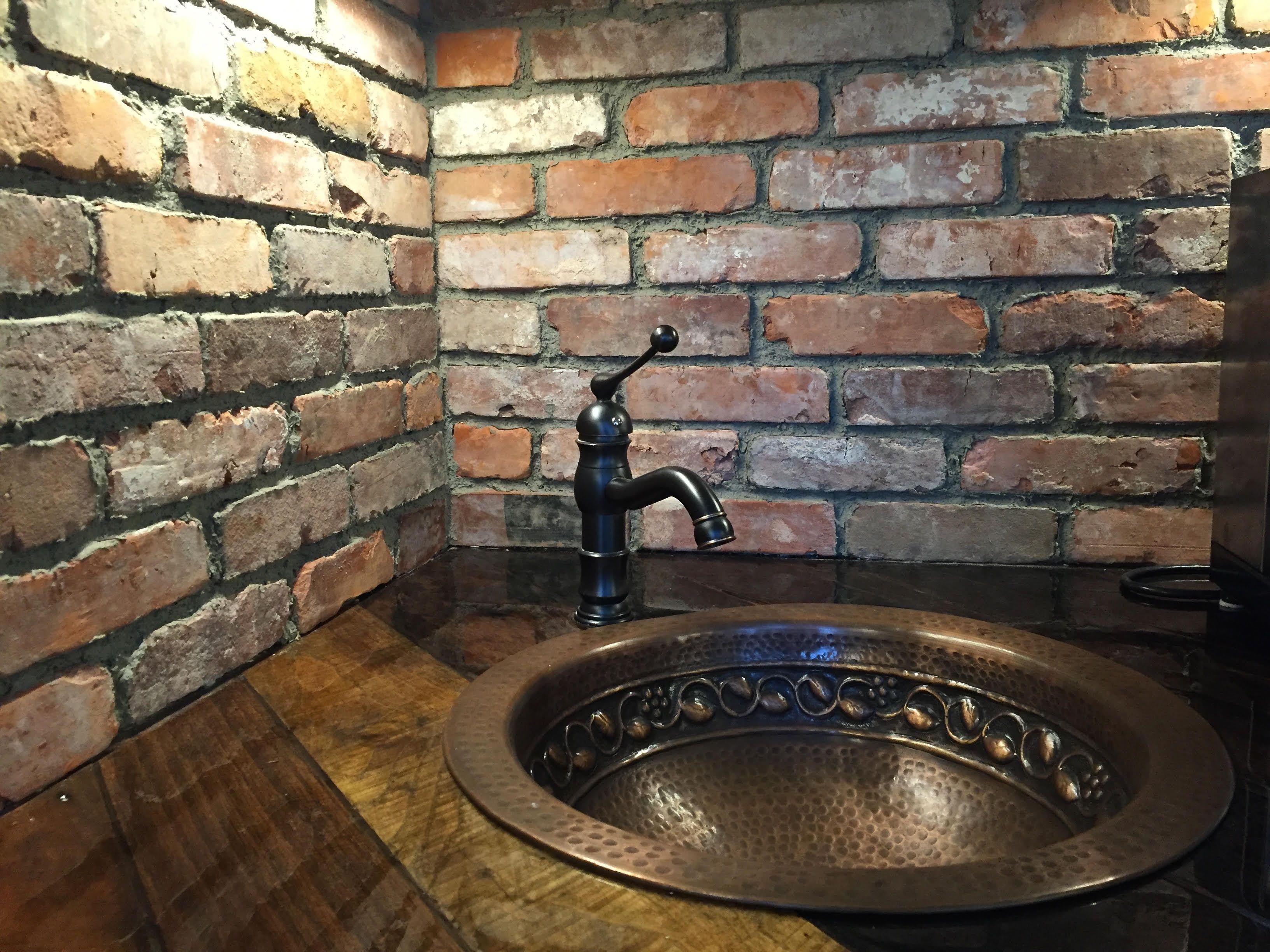 Baltimore Brick Veneer Reclaimed Backsplash Stone Farms
