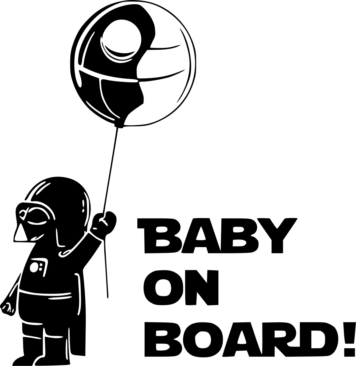 Star Wars Baby On Board Sticker Decal Bumper