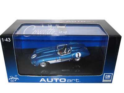 1957 Chevrolet Corvette Ss Diecast Car Model 1/43 Blue Die Cast Car By Autoart