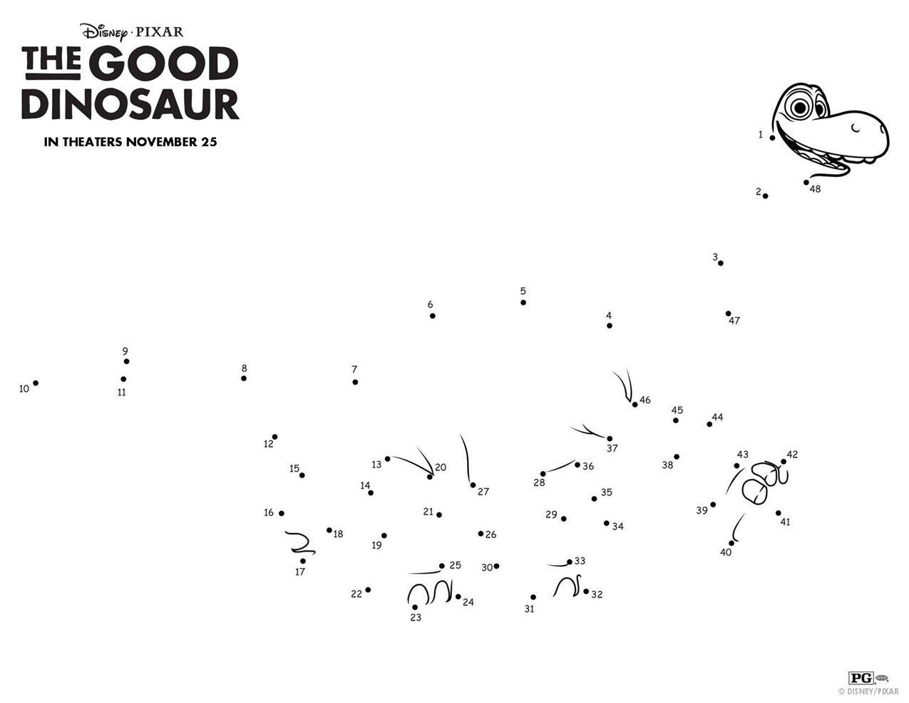 Disney/Pixar\'s THE GOOD DINOSAUR including a pumpkin stencil ...