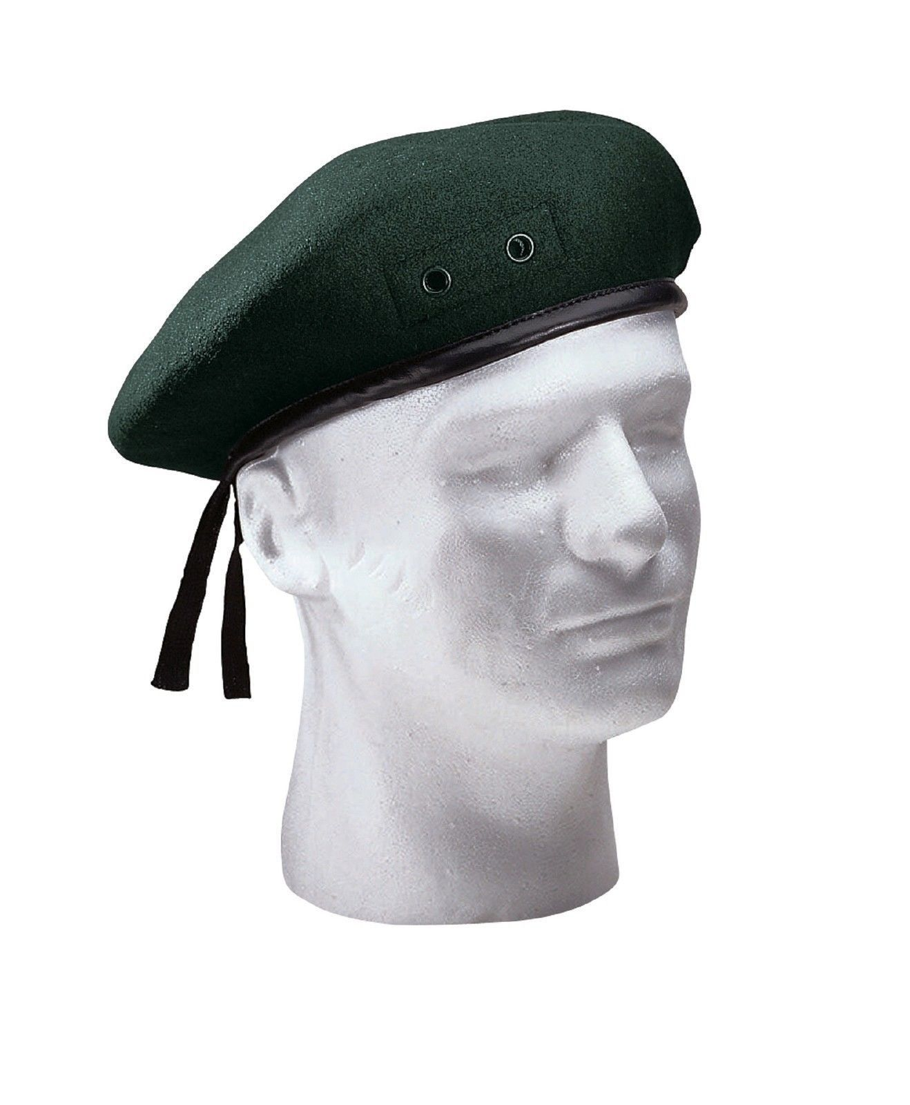 018625e5702 Military Style Wool Beret Green Red Black Blue Maroon Mens French Hat All  Sizes