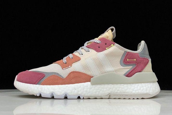 Pertenecer a estudio Abuelo  adidas Nite Jogger 2019 Boost 3M Grey/Light Pink-Red-White DA8666 | New  adidas shoes, Adiddas shoes, Sneakers