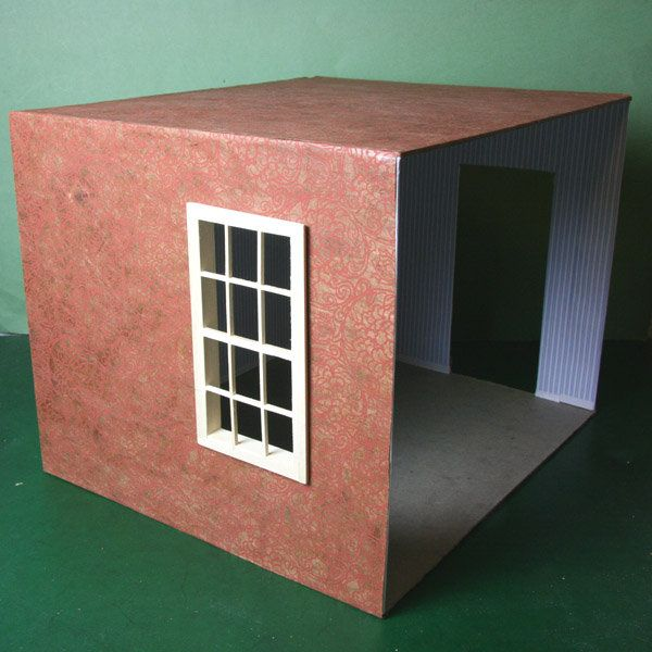 Diy Miniature Doll House Flat Packed Cardboard Kit Mini: Easy Build Roomboxes To Display Models And Miniatures