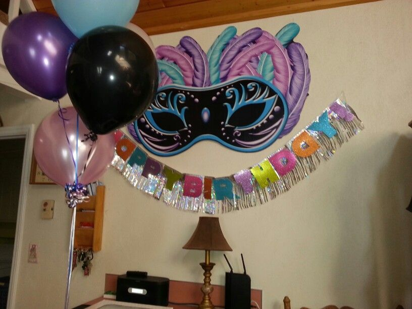 Masquerade party decorations lozz 13th birthday ideas for 13th birthday decoration ideas