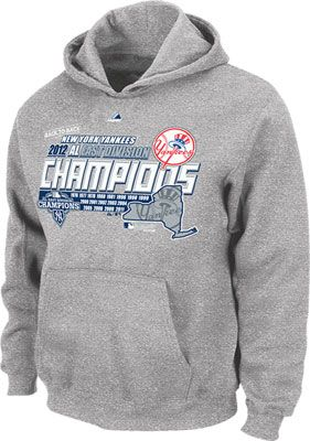 super popular e78ef 0bf41 New York Yankees Youth Grey Majestic 2012 Division Champions ...