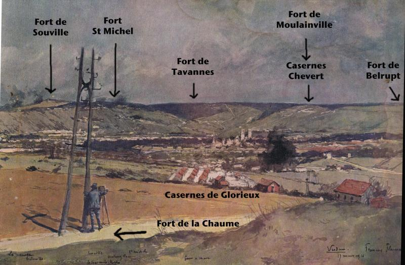 Algunos Lugares Del Campo De Batalla En Verdun Photo Aerienne La Grande Guerre Impression Affiche