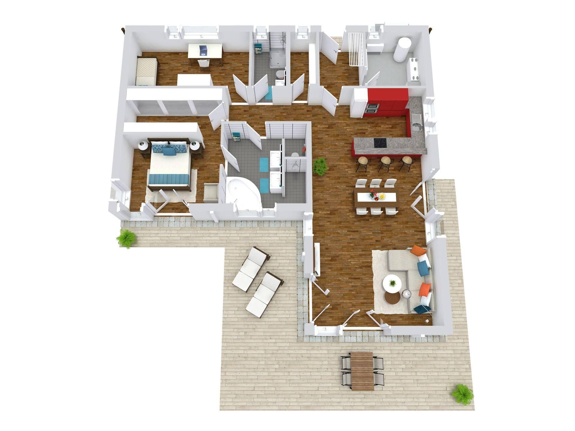 bungalow lessingstraße 129 | grundrisse | bungalow, haus und grundriss