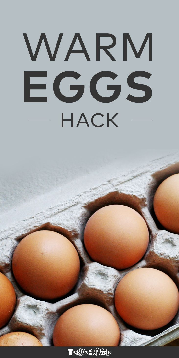 When it comes to baking, getting eggs to room temperature is key.
