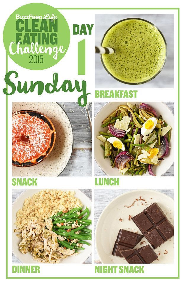 A Two-Week Clean Eating Challenge That's Actually Delicious Take BuzzFeed's Clean Eating Challenge, Learn To Make Real Food. Some good ideas in here.Take BuzzFeed's Clean Eating Challenge, Learn To Make Real Food. Some good ideas in here.
