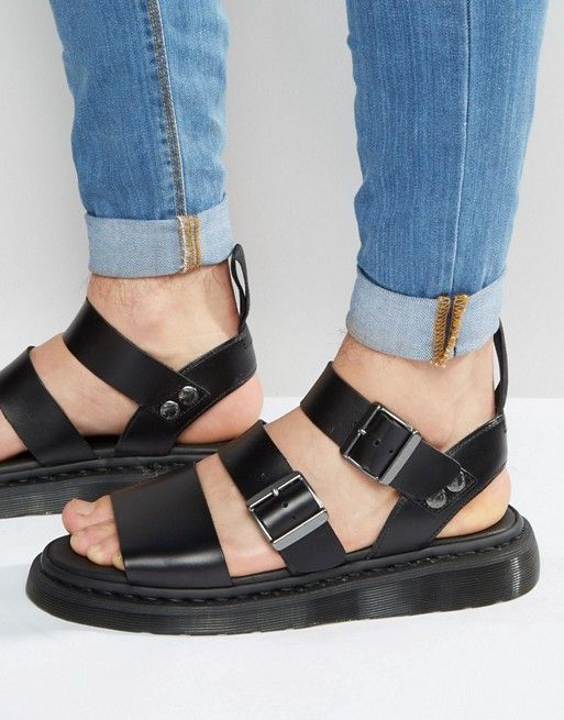 Dr Martens Gryphon strap sandals in black at asos.com e172cff74ce