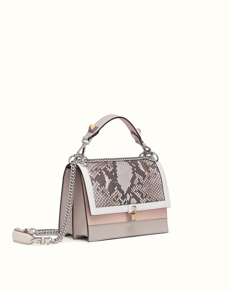dae0baa7b31c FENDI KAN I - Multicoloured leather and python bag